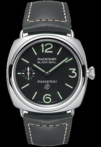 PAM00754 ラジオミール ブラックシール ロゴ 3デイズ アッチャイオ 45mm