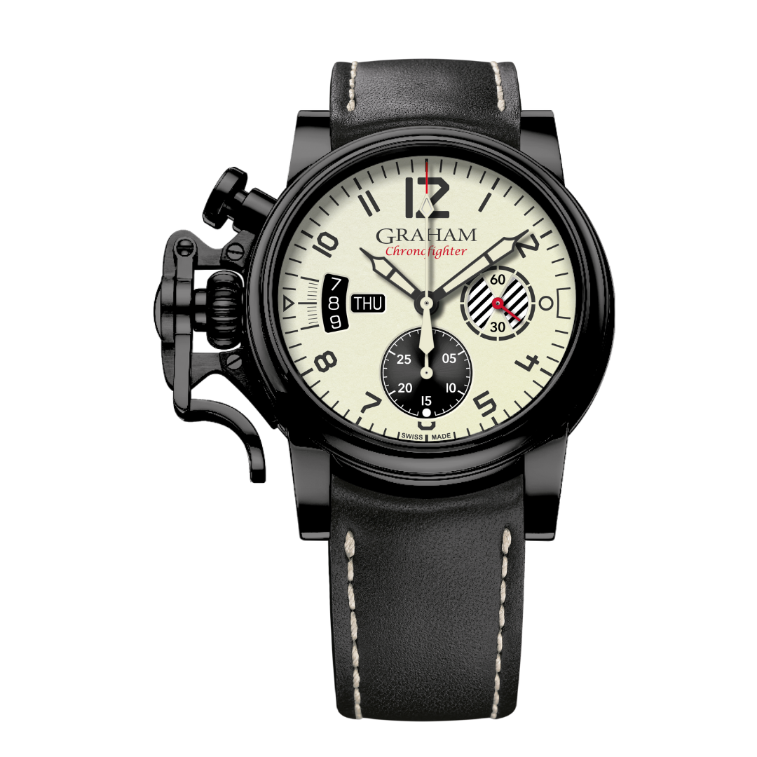 2CVAB.W03A クロノファイター・ヴィンテージ・アヴィエーター・DLC・ホワイト・リミテッド・エディション